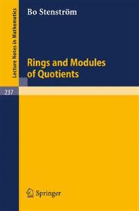 Rings and Modules of Quotients