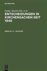 Entscheidungen in Kirchensachen Seit 1946