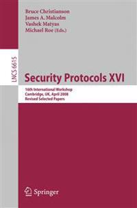 Security Protocols XVI