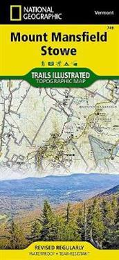 National Geographic Mount Mansfield, Stowe Map