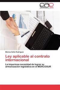 Ley Aplicable Al Contrato Internacional