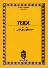 Verdi: Quartet: For 2 Violins, Viola and Violoncello E minor/e-Moll/Mi mineur