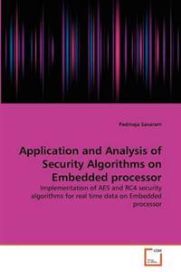 Application and Analysis of Security Algorithms on Embedded Processor