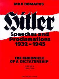 Hitler Speeches and Proclamations