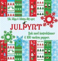 Vik, klipp & klistra ditt eget julpynt : bok med instruktioner & 100 vackra papper