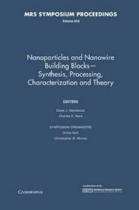 Nanoparticles and Nanowire Building Blocks - Synthesis, Processing, Characterization and Theory: Volume 818