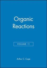 Organic Reactions, Volume 11