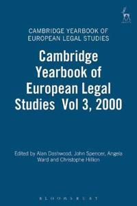 The Cambridge Yearbook of European Legal Studies