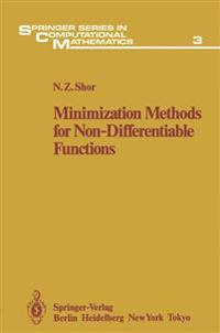 Minimization Methods for Non-Differentiable Functions