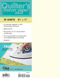 Quilter's Freezer Paper Sheets