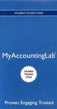 MyAccountingLab with Pearson eText for Introduction to Management Accounting Passcode