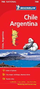 Chile Argentina Michelin 788 karta : 1:2 milj