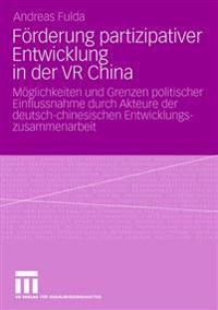 Furderung Partizipativer Entwicklung in Der Vr China
