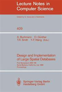 Design and Implementation of Large Spatial Data Bases