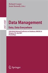Data Management. Data, Data Everywhere