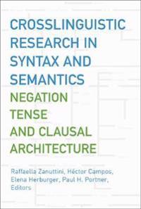 Crosslinguistic Research in Syntax And Semantics