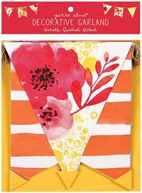Petite Alma Watercolor Floral Decorative Garland