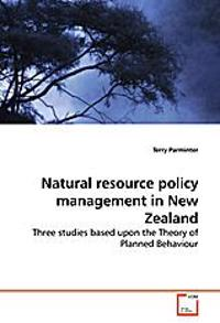 Natural resource policy management in New Zealand
