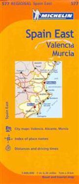 Michelin Spain: East, Valencia Murcia Map 577