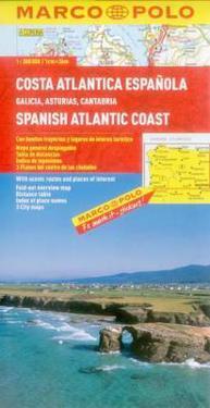 Marco Polo Spanish Atlantic Coast Map/ Costa Atlantica Espanola/ Spanische Atlantikkuste/ Cote Atlantique Espagnole