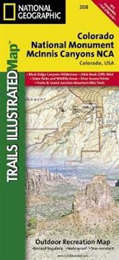 National Geographic Trails Illustrated Map Colorado National Monument McInnis Canyons NCA