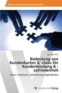 Bedeutung Von Kundenkarten & -Clubs Fur Kundenbindung & -Zufriedenheit