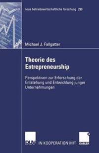 Theorie Des Entrepreneurship