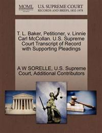 T. L. Baker, Petitioner, V. Linnie Carl McCollan. U.S. Supreme Court Transcript of Record with Supporting Pleadings
