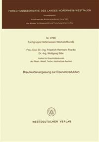 Braunkohlevergasung Zur Eisenerzreduktion