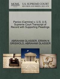 Panico (Carmine) V. U.S. U.S. Supreme Court Transcript of Record with Supporting Pleadings