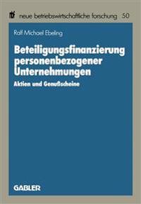 Beteiligungsfinanzierung Personenbezogener Unternehmungen