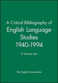 A Critical Bibliography of English Language Studies