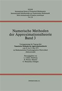 Numerische Methoden Der Approximationstheorie/Numerical Methods of Approximation Theory