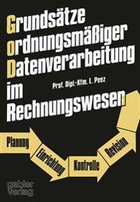 Grundsätze Ordnungsmässiger Datenverarbeitung Im Rechnungswesen