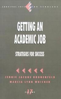 Getting an Academic Job