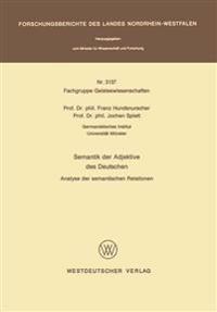 Semantik Der Adjektive Des Deutschen