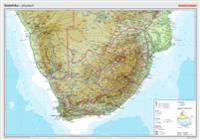 Posterkarten Geographie: Südafrika: physisch