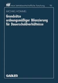 Grundsatze Ordnungsmassiger Bilanzierung Fur Dauerschuldverhaltnisse
