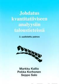 Johdatus kvantitatiiviseen analyysiin taloustieteissä