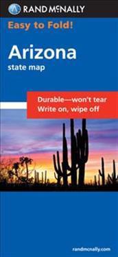 Easy To Fold Arizona State Map