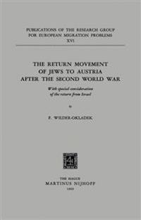The Return Movement of Jews to Austria After the Second World War