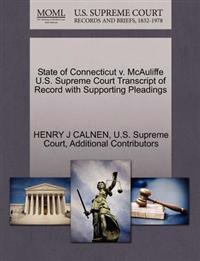 State of Connecticut V. McAuliffe U.S. Supreme Court Transcript of Record with Supporting Pleadings