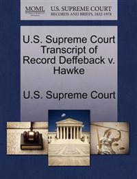 U.S. Supreme Court Transcript of Record Deffeback V. Hawke