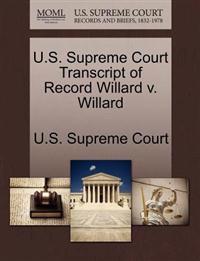 U.S. Supreme Court Transcript of Record Willard V. Willard