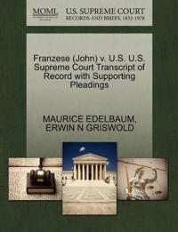 Franzese (John) V. U.S. U.S. Supreme Court Transcript of Record with Supporting Pleadings