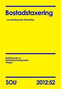 Bostadstaxering : avveckling eller förenkling. SOU 2012:52