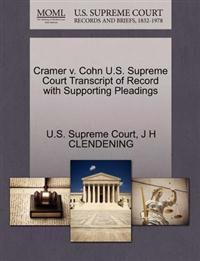Cramer V. Cohn U.S. Supreme Court Transcript of Record with Supporting Pleadings