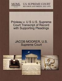 Prioleau V. U S U.S. Supreme Court Transcript of Record with Supporting Pleadings