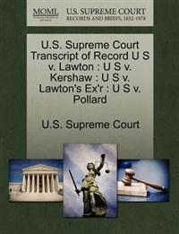 U.S. Supreme Court Transcript of Record U S V. Lawton