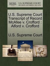 U.S. Supreme Court Transcript of Record McAfee V. Crofford